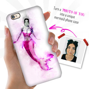 Personalized Mermaid Phone Case - Watercolor