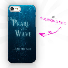 Load image into Gallery viewer, Personalized Mermaid Name Phone Case - Bubble