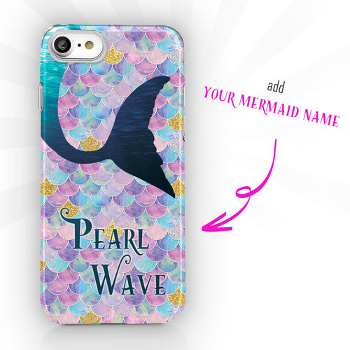 Personalized Mermaid Name Phone Case - Ocean Tail