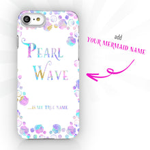 Load image into Gallery viewer, Personalized Mermaid Name Phone Case - Rainbow