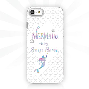 White scales - Mermaid Phone Case