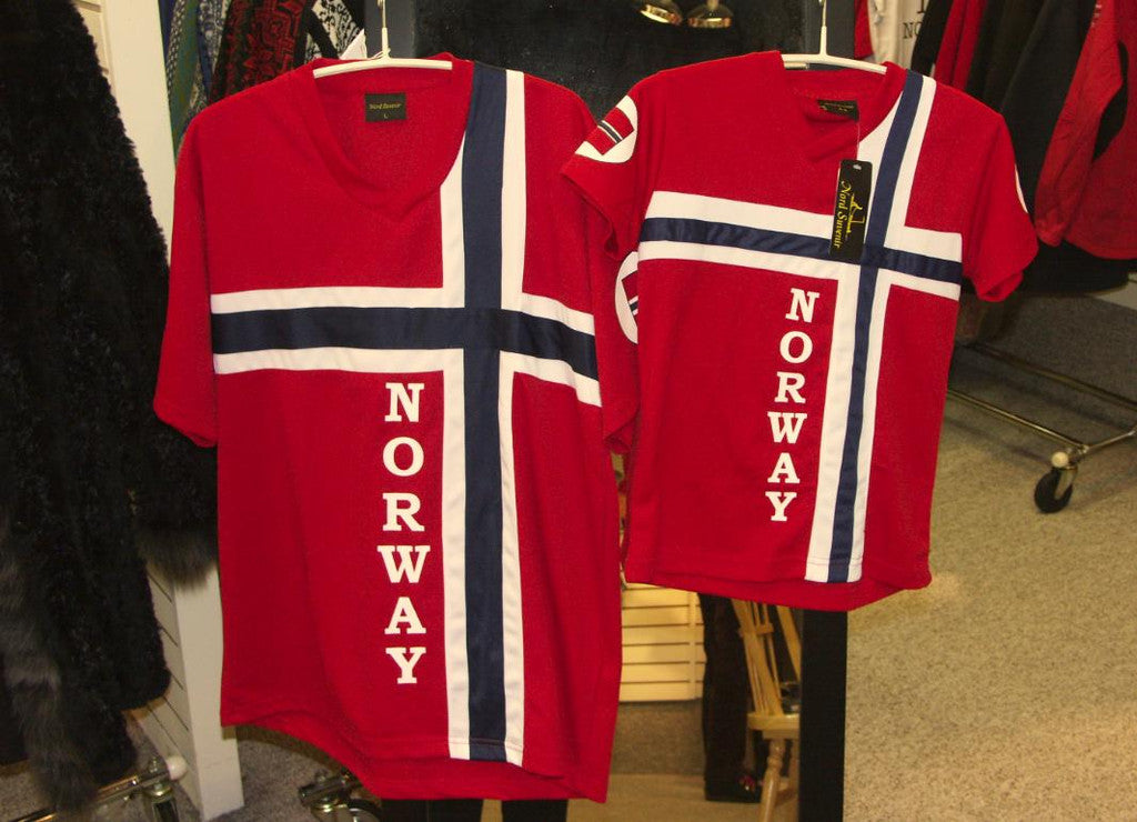 shirt norway flag adult