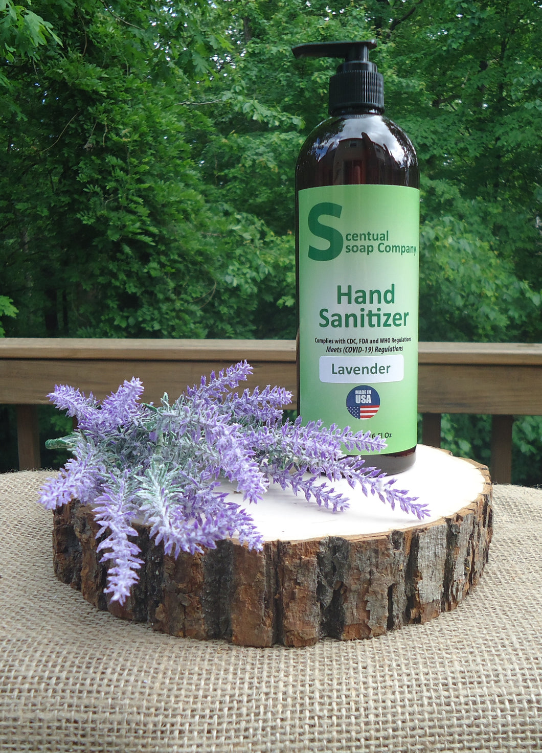 Hand Sanitizer Refill bottle 16 ounce Lavender