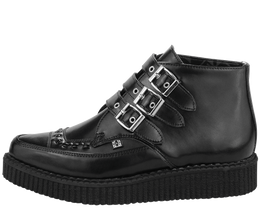 Black Leather Creeper Boots View 2