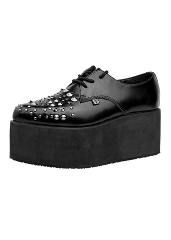 Black Stud Stacked Pointed Creeper
