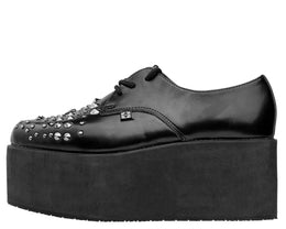 Black Stud Stacked Pointed Creeper View 2