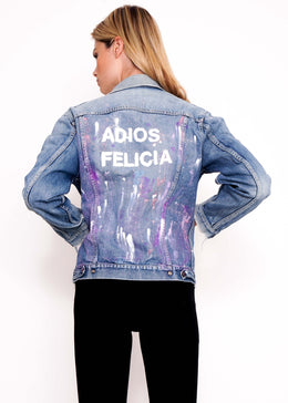 Paint Splatter Adios Vintage Jacket