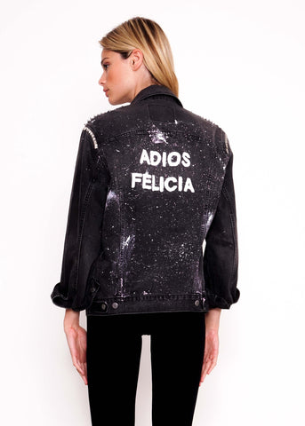 Studded Black Vintage Adios Jacket