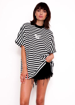 Stripe Oversized Tee View 2