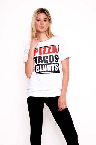Pizza Tacos Blunts Tee