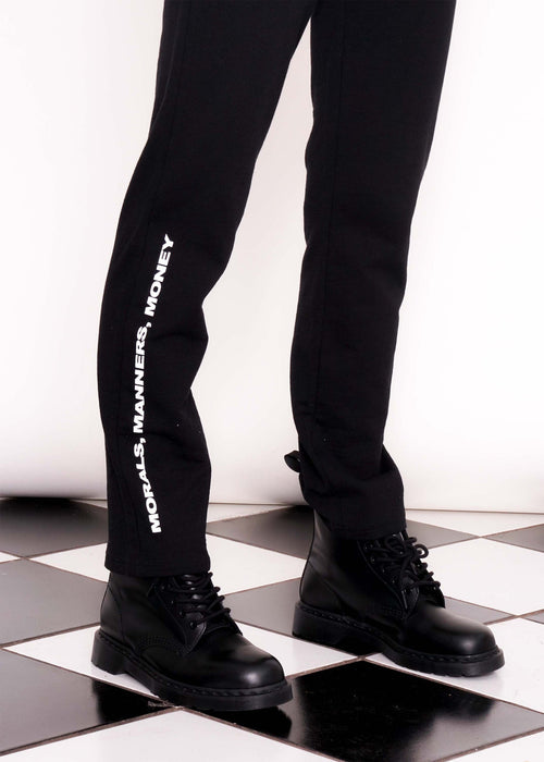 Sweatpants Morals Manners Black