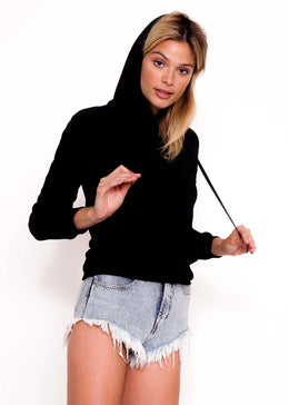 Open 24/7 Collage Hoodie in Black View 2