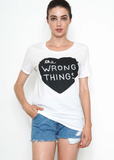 The Wrong Things Boyfriend Tee in White
