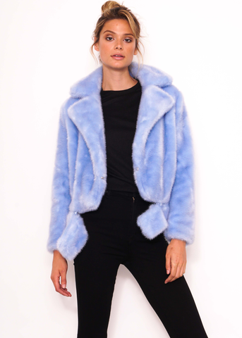 Edith Faux Fur Short Jacket