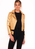 Regal Biker Style Leather Jacket