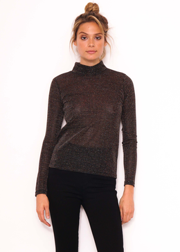 Lizzy Lurex High Neck Top