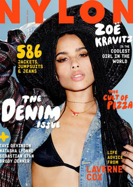 The Denim Issue, Zoe Kravitz August 2015