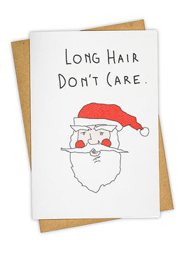 Don't Care Greeting Card