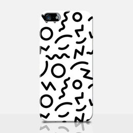 90's Mono Squiggle iPhone Case