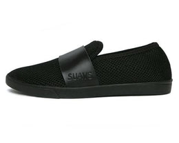 Barton Slip On in Black On Black