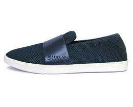 Barton Slip On in Navy On White