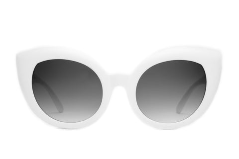 The Diamond Brunch Sunglasses in Matte White
