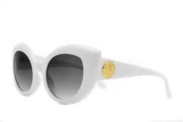 The Diamond Brunch Sunglasses in Matte White View 2