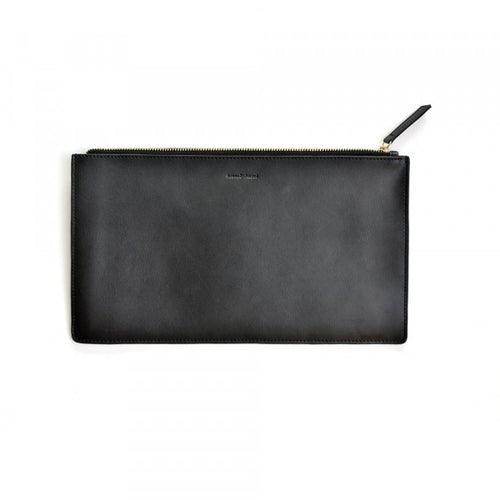 Day To Night Black Leather Clutch