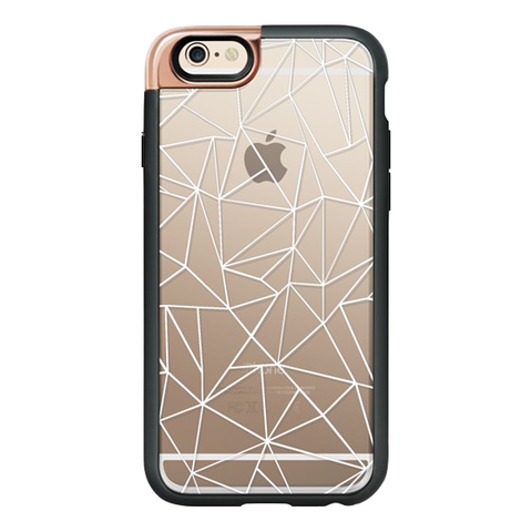 iPhone 6/6S Case in White Abstract Outline