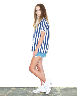Woven Striped Tee View 2