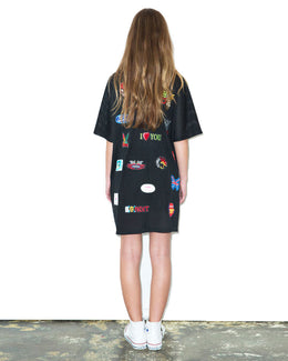 Patch Mesh T-Shirt Dress View 2