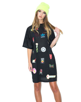 Patch Mesh T-Shirt Dress