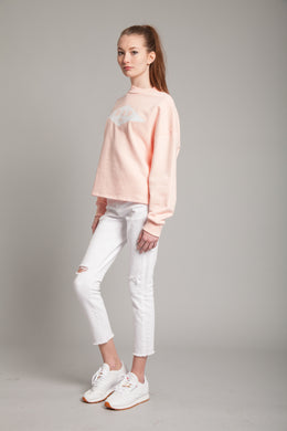 Bad Sweatshirt in Light Pink View 2
