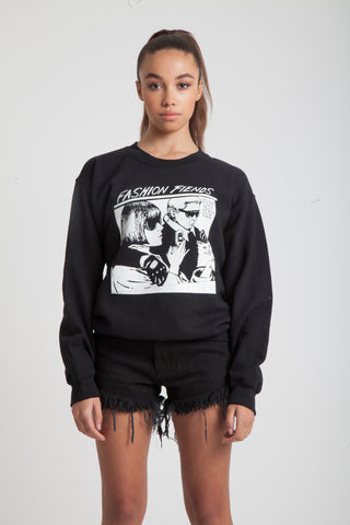 Fashion Fiends Sweatshirt in Black