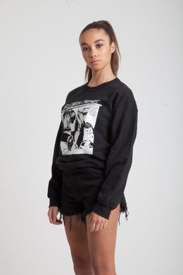 Fashion Fiends Sweatshirt in Black View 2