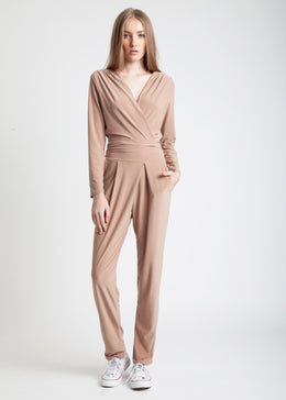 Jodie Jumpsuit in Camel