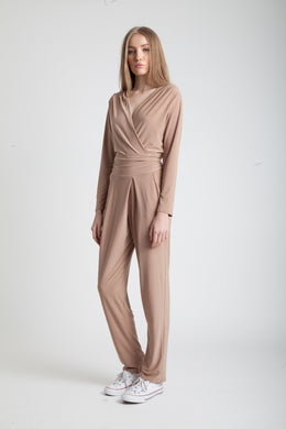 Jodie Jumpsuit in Camel View 2