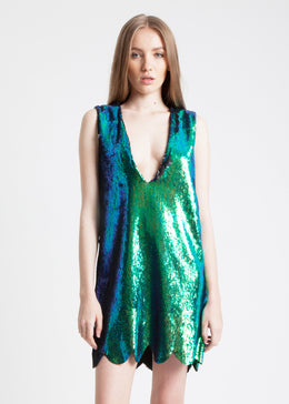 Sequin Mermaid Mini Dress