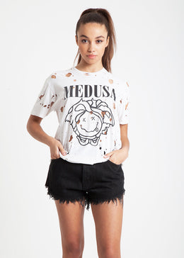 Medusa Destroyed Tee in White View 2