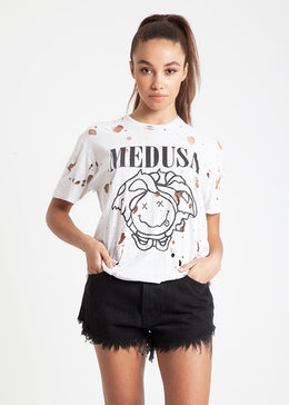 Medusa Destroyed Tee in White