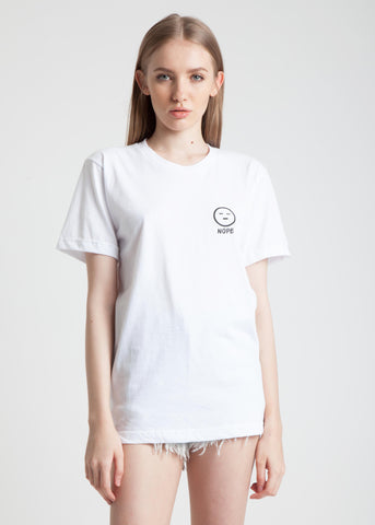 Nope Tee in White