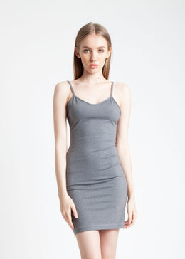 Gray Ribbon Dress