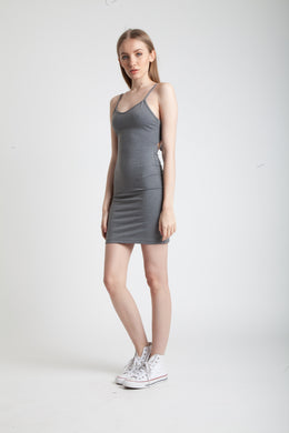 Gray Ribbon Dress View 2