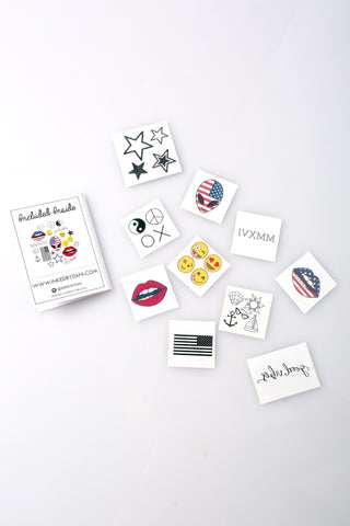 The Patriotic Pack Temporary Tattoos