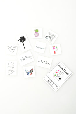 The Beach Bum Pack Temporary Tattoos