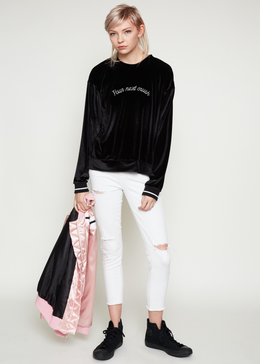 Crush Velvet Sweatshirt