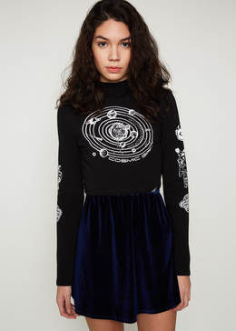 Cosmic Girl Polo Crop Top