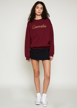 Cannabis Embroidered Sweatshirt