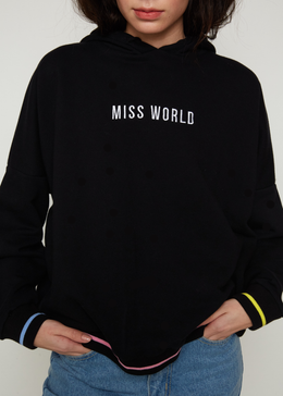 Miss World Oversized Hoodie View 2