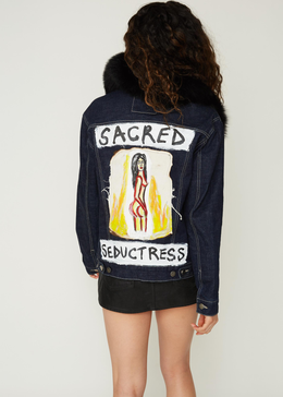 """Sacred Seductress"" Unisex Denim Jacket"